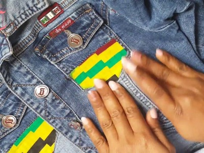 HOW TO CUSTOMIZE YOUR DENIM JACKET WITH AN ANKARA FABRIC [NO SEWING]