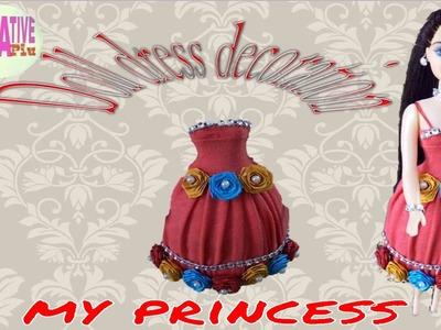 How to decorate barbie doll like a princess