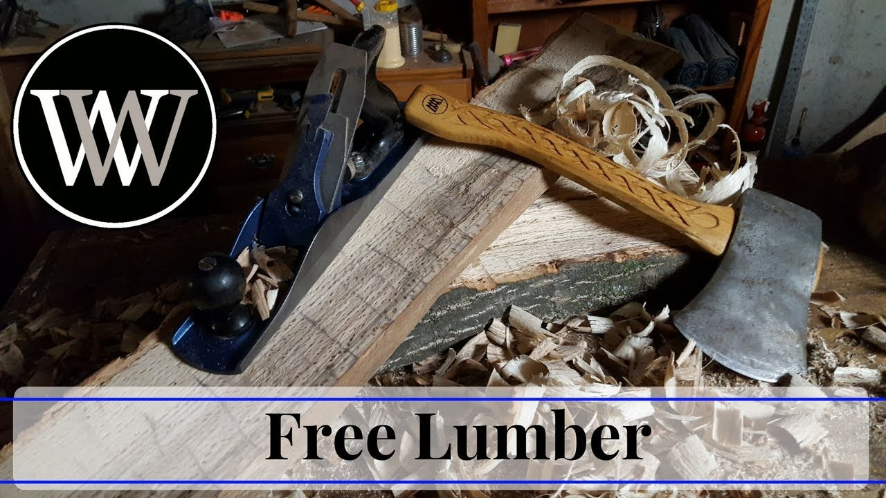 How to Get Free Lumber - Riven Wood With Basic Hand Tools. Woodworking