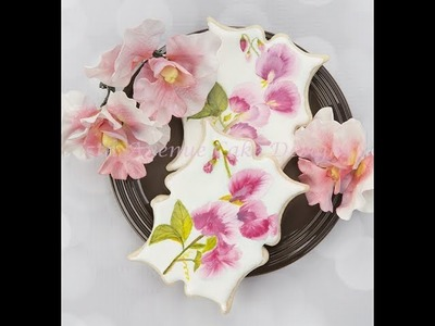 How to Hand Painted Royal Icing  Sweet Pea Cookies ????????????️????