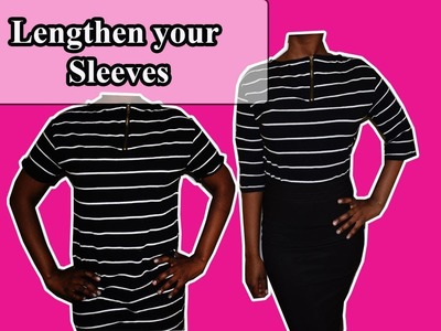 How to lengthen sleeves - Sleeve alterations.Remakes