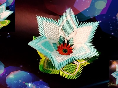 How to make 3d origami flower 6