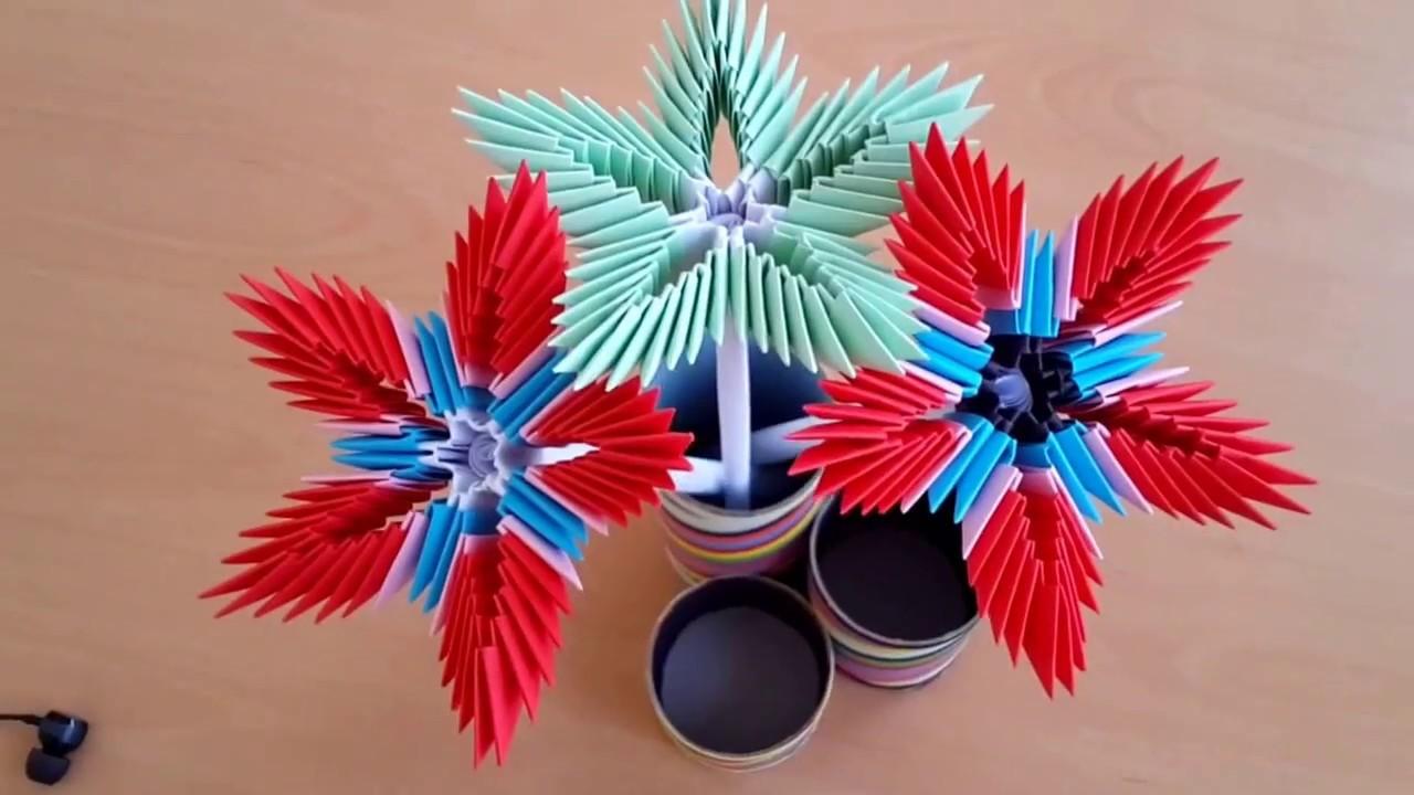 How to make 3d origami flowers origami wonderful flower by art l mightylinksfo