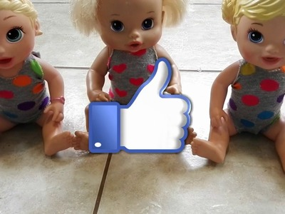 HOW TO MAKE A BATHING SUIT FOR YOUR BABY ALIVE DOLL!