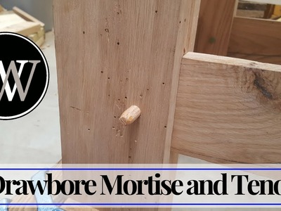 How to Make a Drawbore Mortise and Tenon - Traditional Hand Tool Joinery and Woodworking
