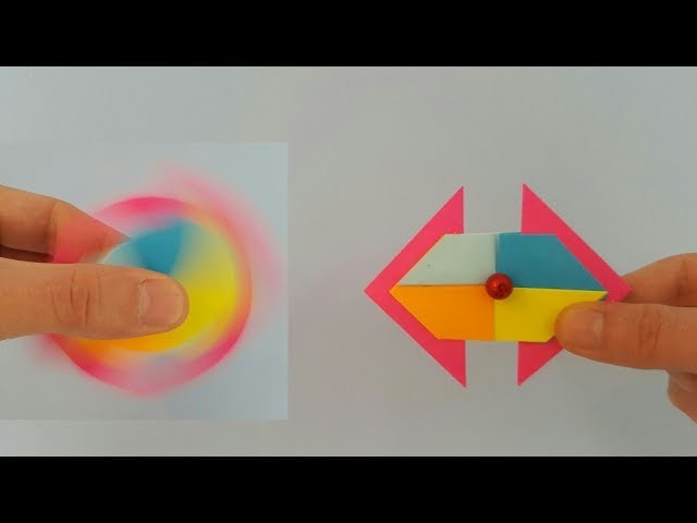 How To Make A Hand Spinner Fidget  Toy Paper