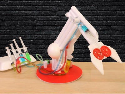 How To Make A Hydraulic Powered Robotic Arm Out Of Paper!!