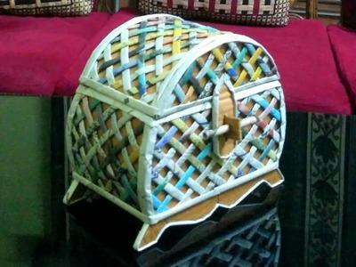 How to make a jewellery box using newspaper & cardboard