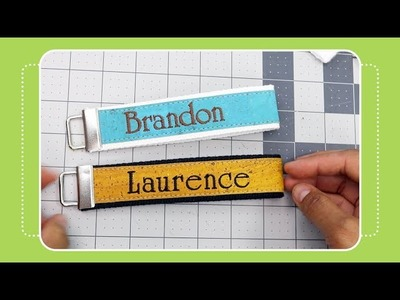 How to Make a Key Fob- Cork & Embroidery Tutorial by The Crafty Gemini