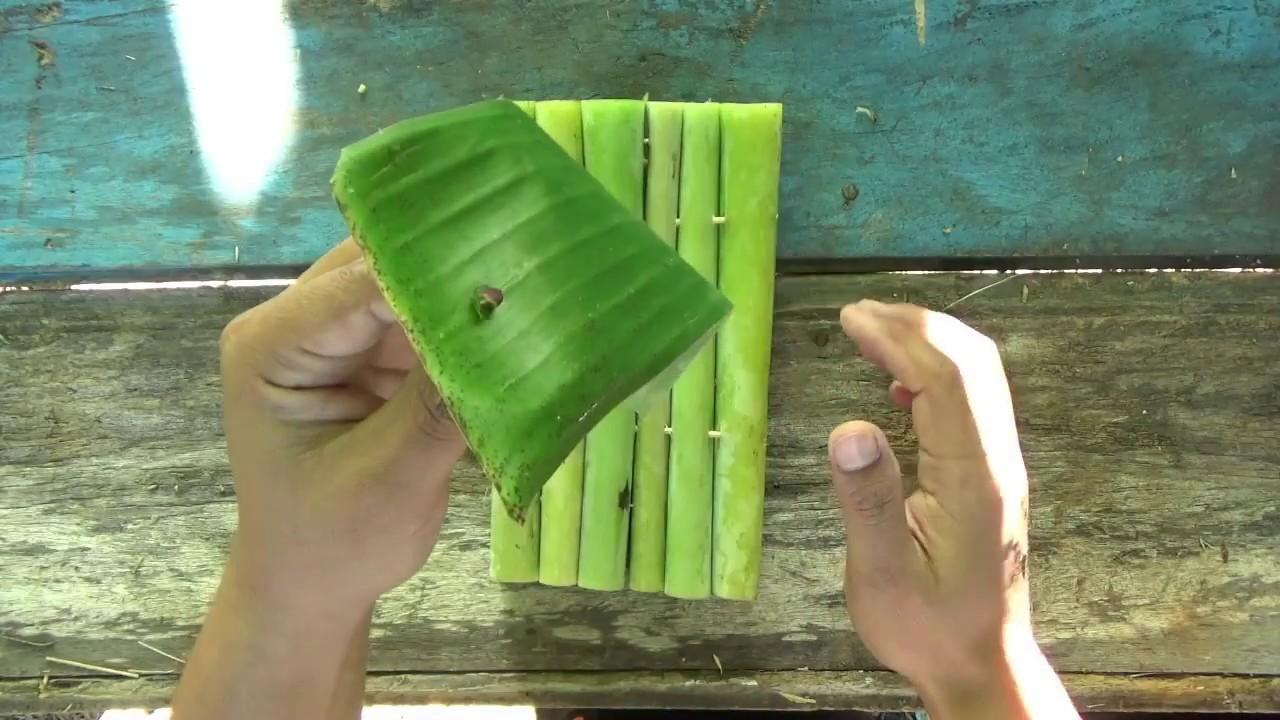 How to make a mini banana stem raft