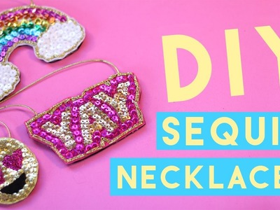 How to Make a Necklace with Sequins - Make Your Own Embroidered Necklace ???? ???? ????