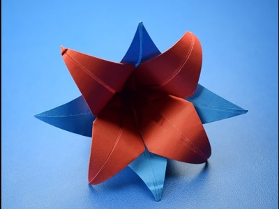 Origami Lily instruction - need to find pretty papers. | Origami ... | 300x400