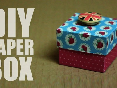 How to make a paper box with a lid that opens easy