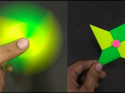 How To Make A Paper Fidget Spinner WITHOUT BEARINGS At Home
