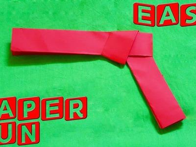 How to make a Paper Gun ( easy paper gun )