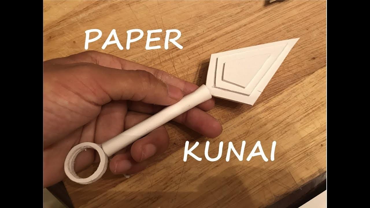 How To Make A Paper Kunai