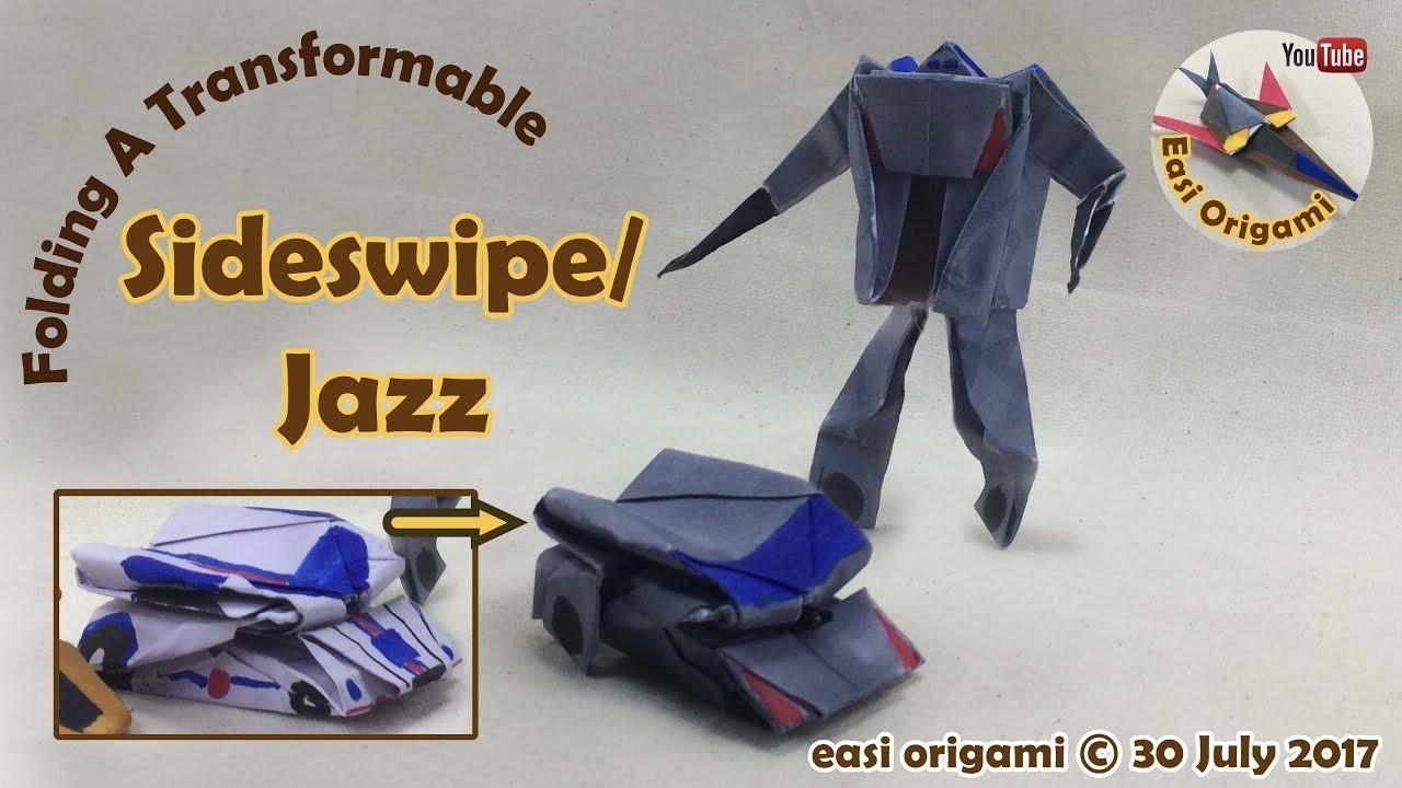 How to make a papercraft origami transformer sideswipe jazz how to make a papercraft origami transformer sideswipe jazz requires 1 straight cut jeuxipadfo Images