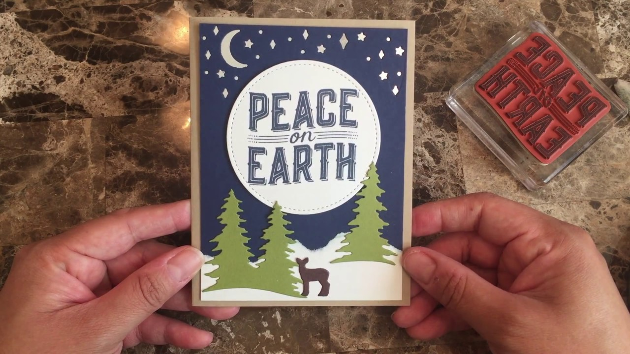 How to make a quick and easy Christmas card using Carols of Christmas stamp set