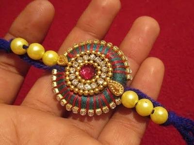 How to make a Rakhi at home using Silk Thread