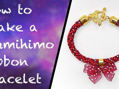 How to make a ribbon kumihimo bracelet