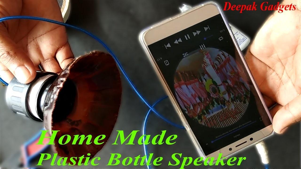 How to make a speaker.tweeter using useless plastic bottle