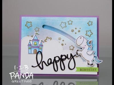 How to Make A Spinning Unicorn Card   MFT Magical Unicorns
