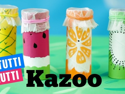 How to make a tutti frutti kazoo out of a toilet paper roll