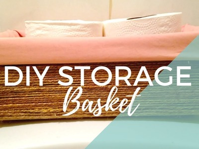 How To Make A Twine Storage Basket For Your Bathroom