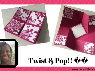 How to make a Twist & Pop card tutorial - Fancy Fold Series by Hancrafted Cards