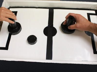How to make Air Hockey Game at home DIY