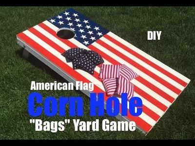 How to make an Americal Flag Corn Hole Bags Game