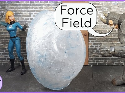 How to Make an Force Field Effect for Invisible Woman, DIY Action Figure Force Effect