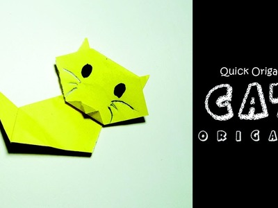 How to Make an Origami Cute Paper Cat for Kids–Cute and Easy Origami Cat–Easy Origami Paper Cat–DIY