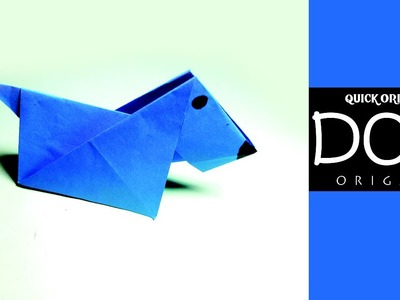 How to Make an Origami Paper Dog for Kids-Origami Paper Dog for Beginners-Very Easy Paper Dog