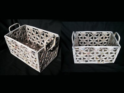 How To Make Basket From Newspaper. DIY Basket Making. Best Out Of Waste