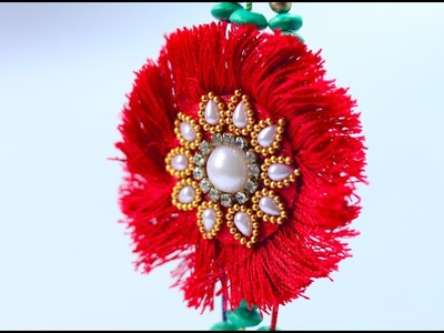 How to Make Beautiful Rakhi with Silk Thread and Beads at Home [Very Easy]