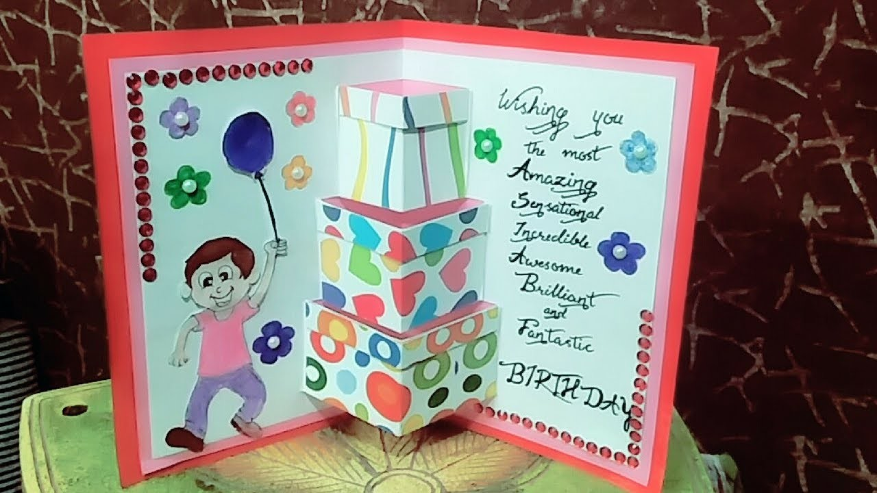 How To Make Birthday Cards Card For Friend Easy And Simpe