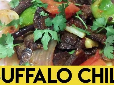 How to make Buffalo Chili. Buff Chilly. Buf Chilli [EASY & QUICK RECIPE] Nepali. Newari Food Dish