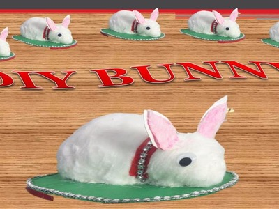 HOW TO MAKE BUNNY WITH FUSE BULB AND COTTON