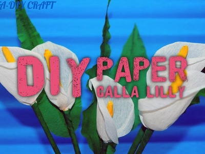 How to make calla lily paper flower   Easy origami flowers for beginners making