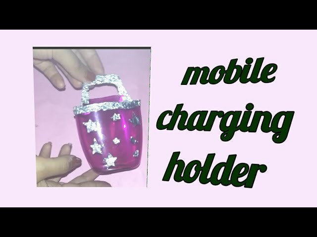 How to make charging holder from plastic bottle.best out of plastic bottle