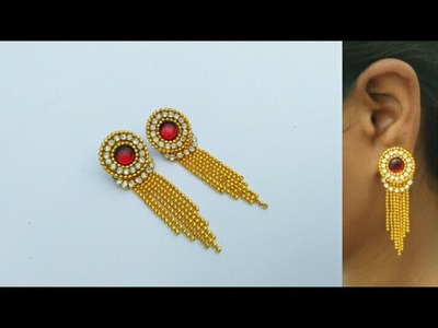 How To Make Designer Earrings |  Paper Earrings | Jewellery Making | DIY+earring(earring) | diaries