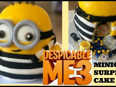How to Make Despicable Me 3 MINION - Surprise Cake Egg