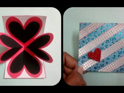 How to make DIY hearts pop up card by handmade cards ideas