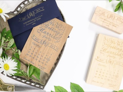 How to Make DIY Stamped Save The Dates