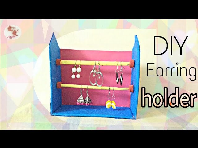 How to make Earring Holder. Organizer - DIY from Recycled Cardboard and newspapers