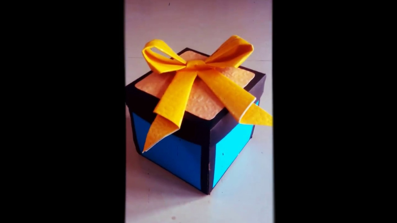 How to make Explosion box - Birthday card for best friend