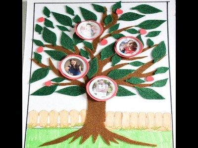 How To Make Family Tree - My Family Tree With Photo Project By: Cyrus Kiddie Toys