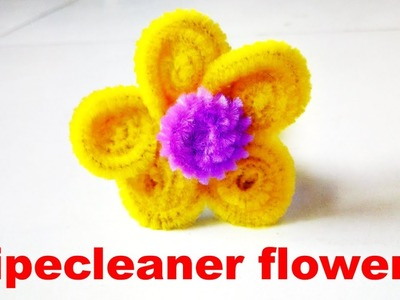 How to make Flower from Pipe cleaner | Pipe cleaner crafts