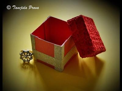 How to Make Gift Box with Paper | Handmade Gift Box. Mini Gift Box. Kirigami Box - Step by Step